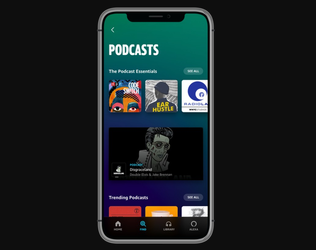 Amazon Music now streams Podcasts, including its own original shows