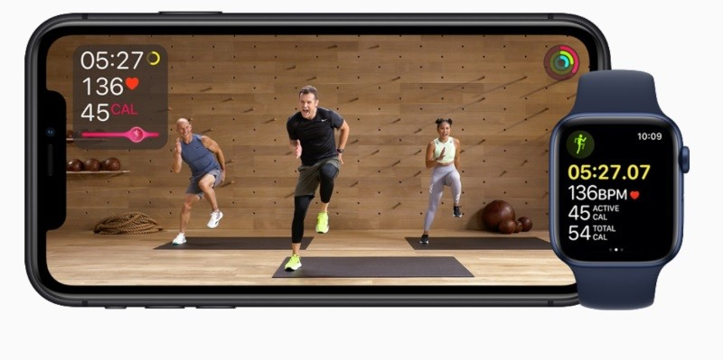 Apple Fitness+ is an online fitness class subscription service for Apple Watch