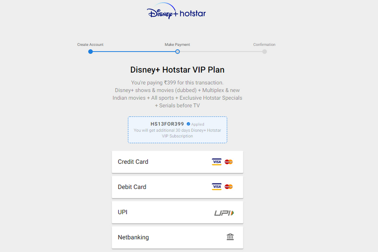 Disney+ Hotstar Offering Free Month with New VIP Subscriptions This Weekend