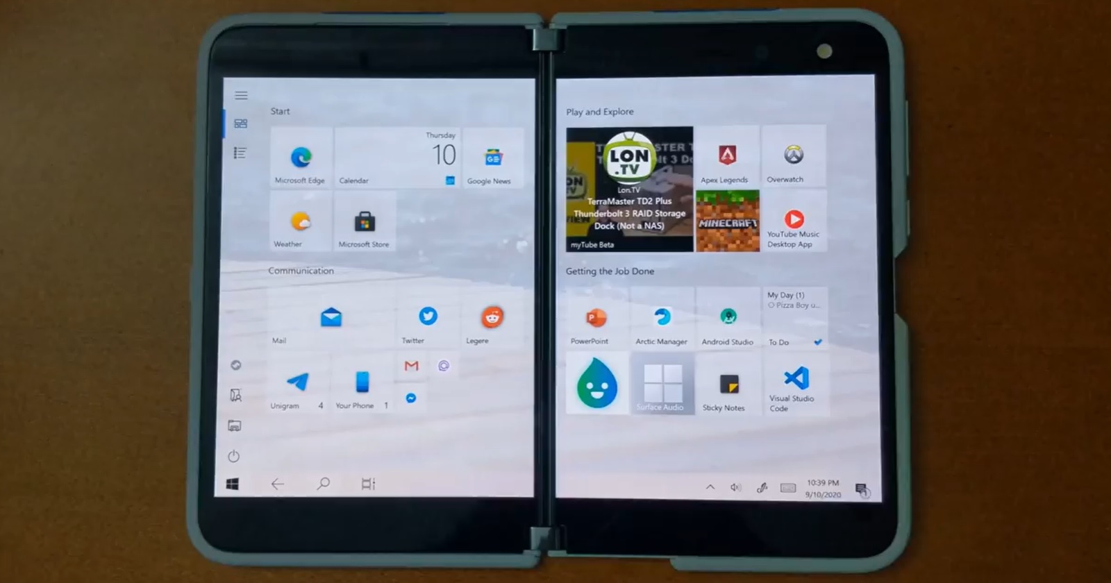Here's what Windows 10 would look like on a Surface Duo phone