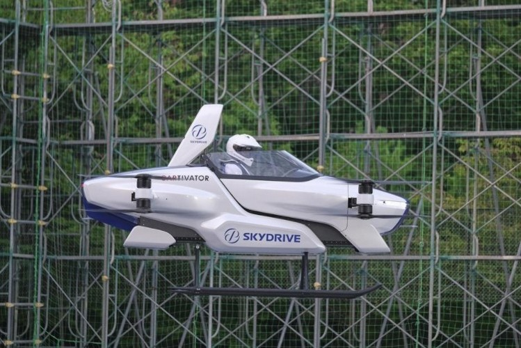 Japan-Based Skydrive's Flying Car Takes Flight With a Person On-Board