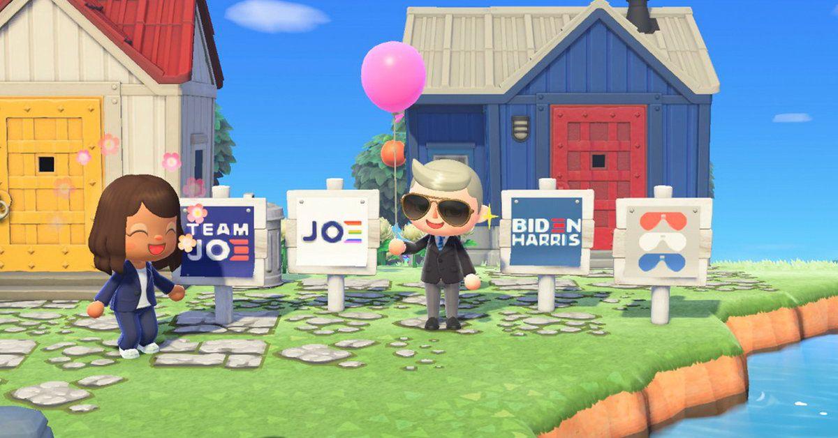 Joe Biden and Kamala Harris take the presidential campaign to Animal Crossing
