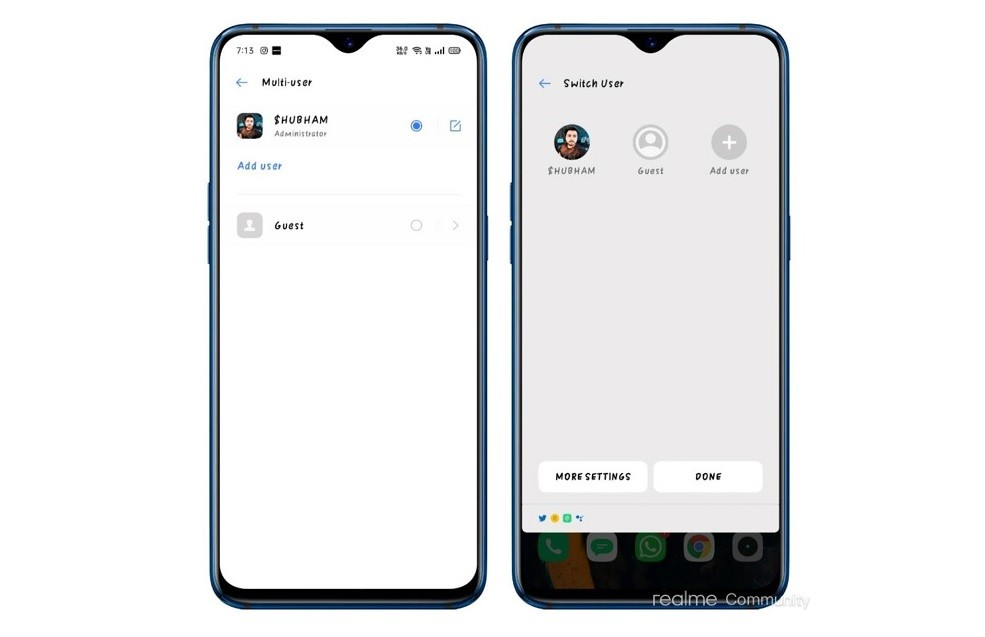 Multi-user support for devices running Realme UI based on Android 10 is coming soon
