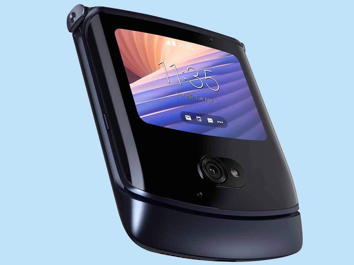 New Motorola Razr phone design showing folded, price also revealed