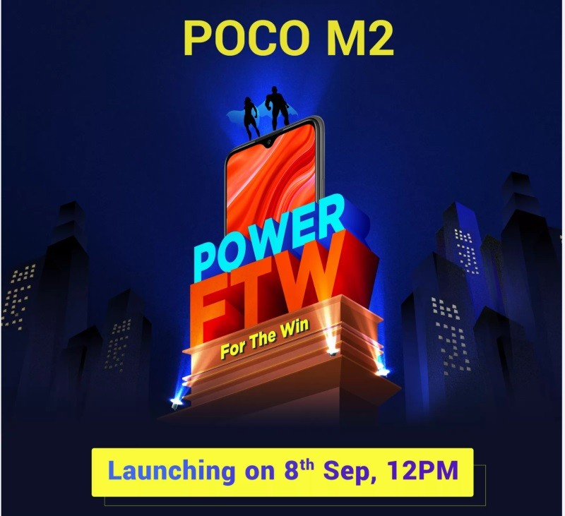 Poco M2 launch confirmed for Sept 8th in India