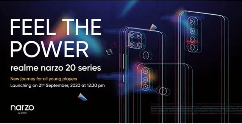 Realme Narzo 20 series India launch set for Sept 21