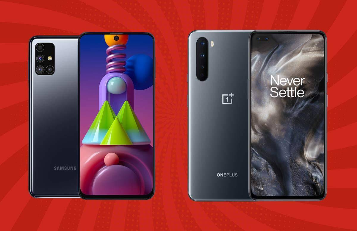 Samsung Galaxy M51 vs OnePlus Nord comparison of smartphones under 30000, availability on amazon - Samsung Galaxy M51 vs OnePlus Nord: which smartphone is more powerful, know
