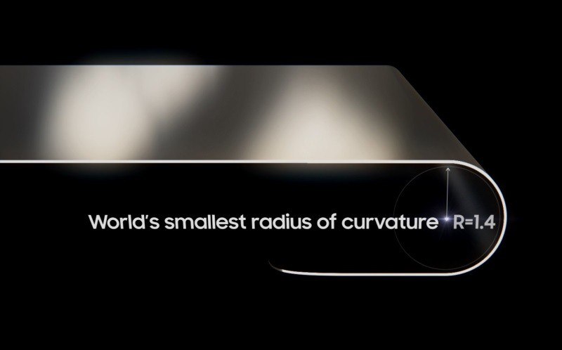 Samsung's new foldable OLED panel has world's smallest curvature
