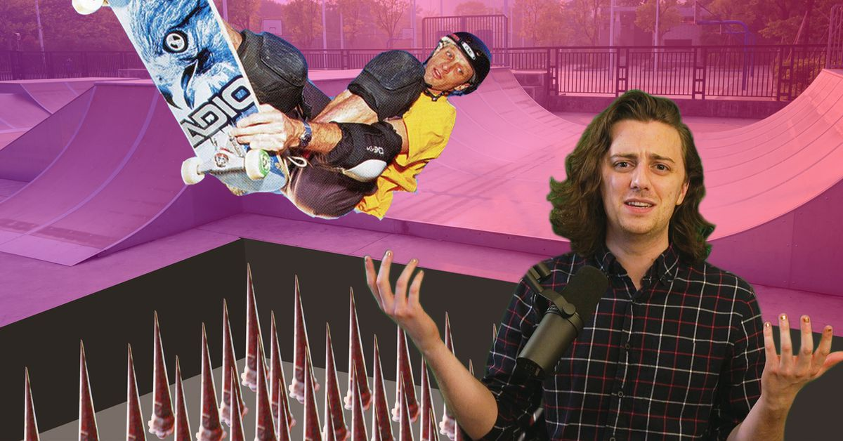 Why did Tony Hawk's Pro Skater 2 include a UN-banned booby trap?