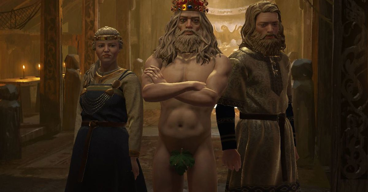 Why is everyone in these Crusader Kings 3 screenshots buck naked?