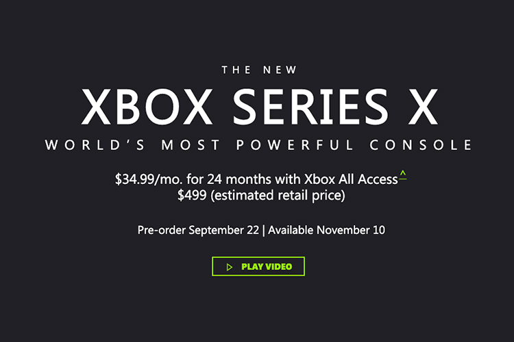 Xbox Series X is Priced at $499, Launches November 10