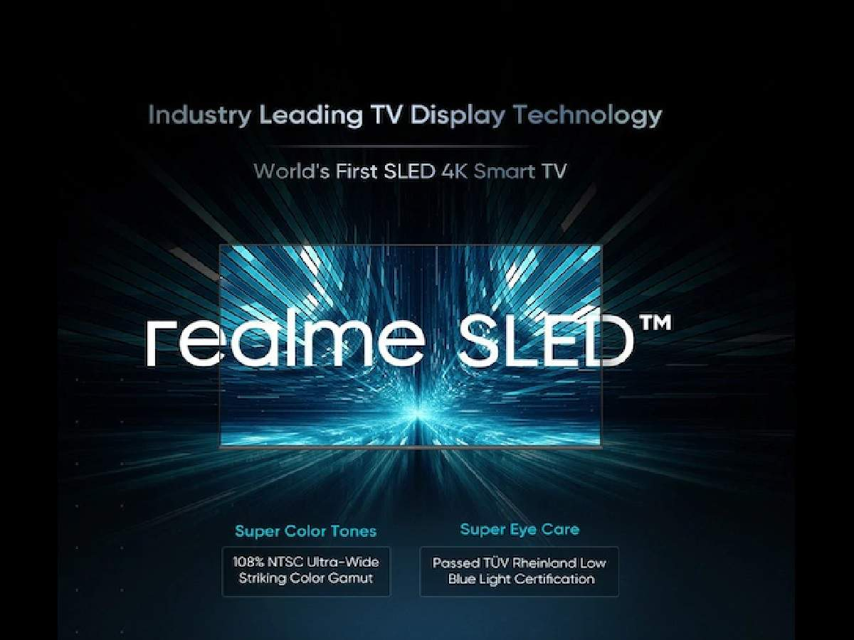 gadgets news news: Reality launches world's first SLED 4K SmartTV, will be launched soon - realme to launch world first sled 4k smart tv in india