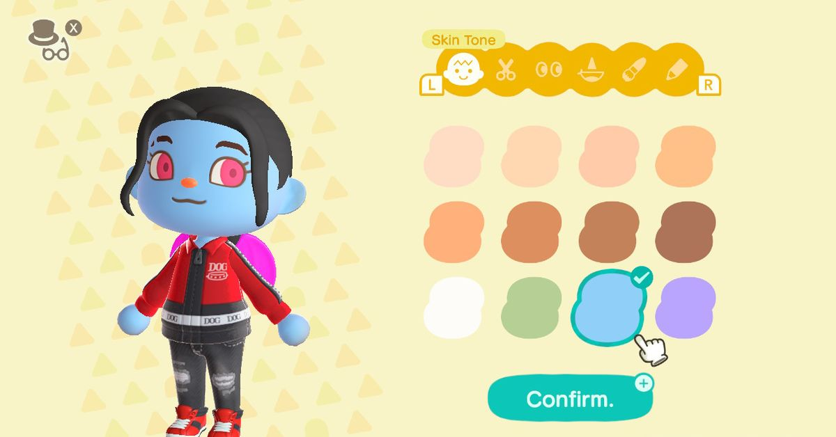 How to get Halloween skin tones and eye colors in Animal Crossing: New Horizons