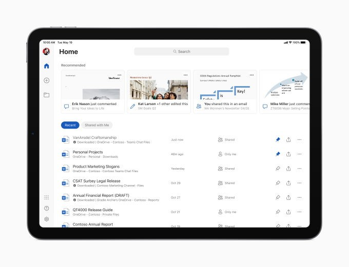 Microsoft Office for iPad finally gets full mouse, trackpad support