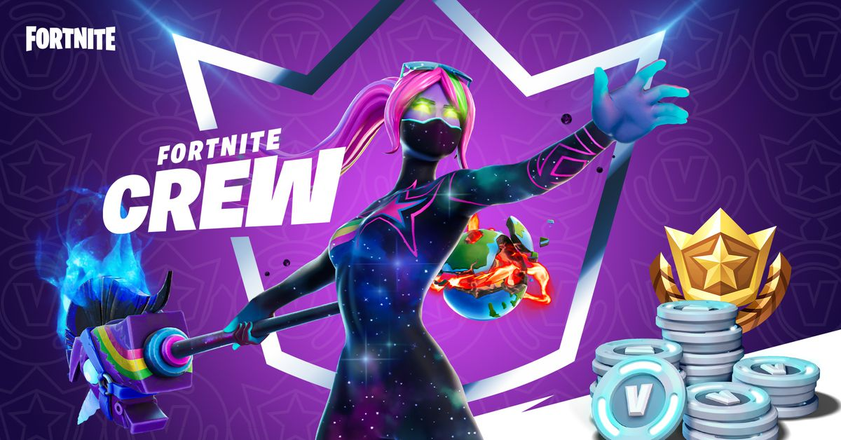 Fortnite Crew subscription service announced: price, exclusive skins, more