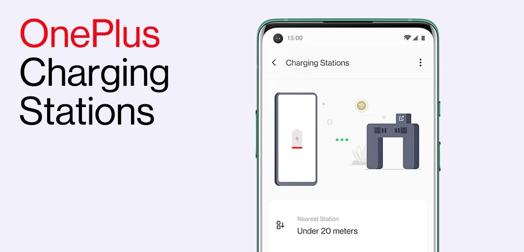 OnePlus devices will identify nearby charging station at airport and notify you