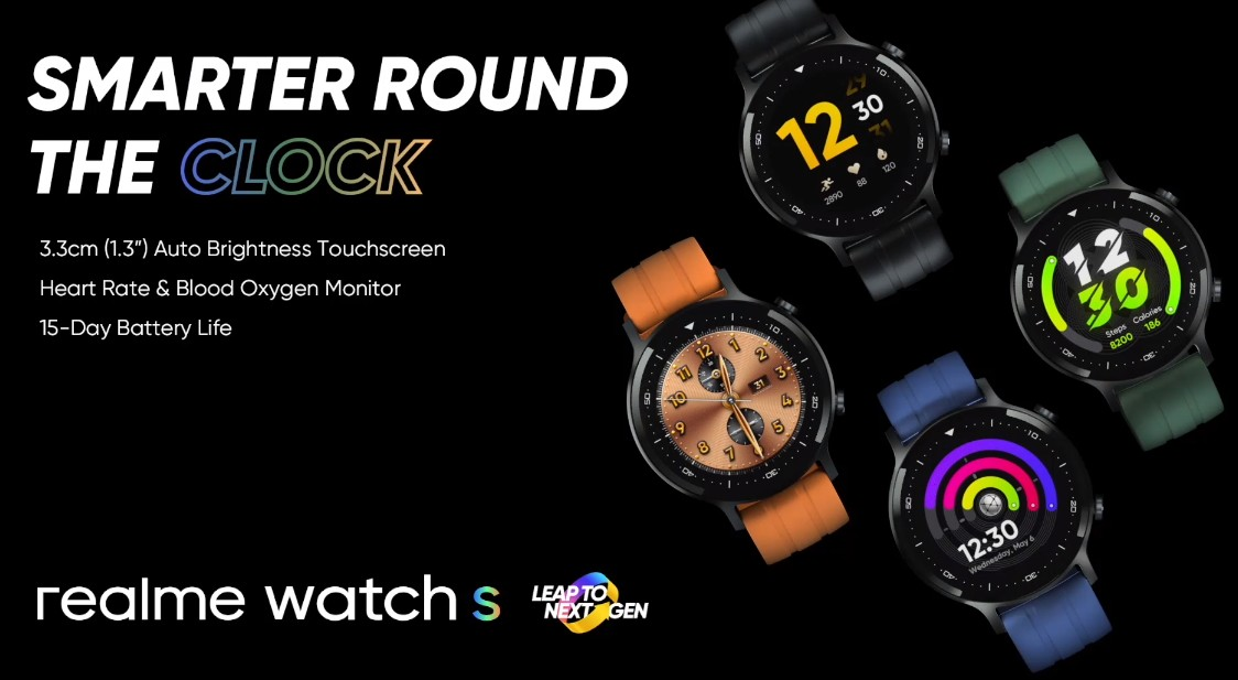 Realme Watch S with heart rate and blood oxygen monitoring launched