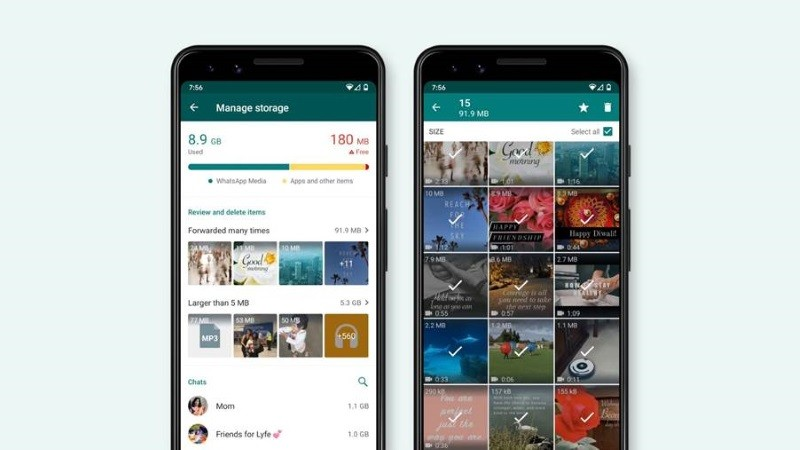 WhatsApp releases a redesigned storage management tool