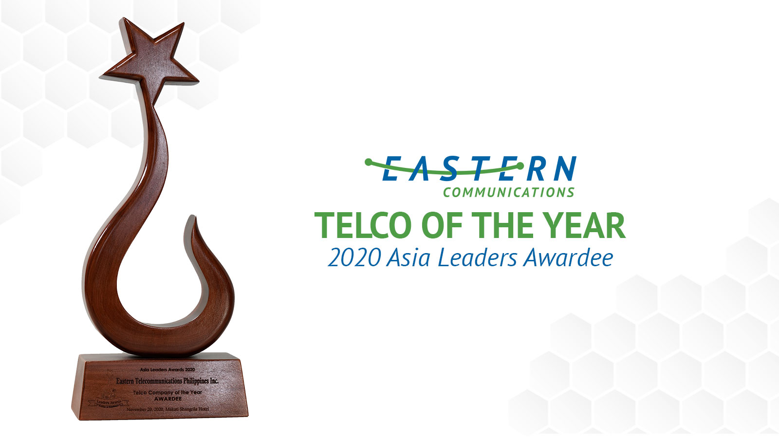 Eastern Communications wins Telco of the Year at Asia Leaders Awards 2020