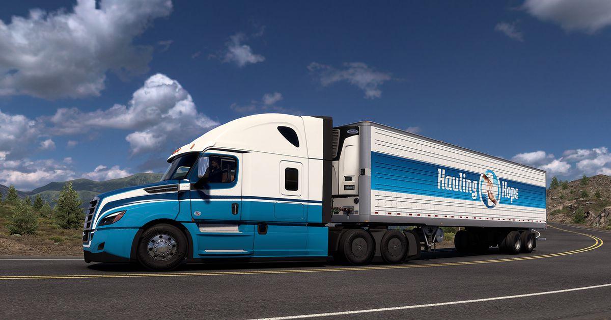 Euro and American Truck Simulator in-game event hauls COVID-19 vaccines