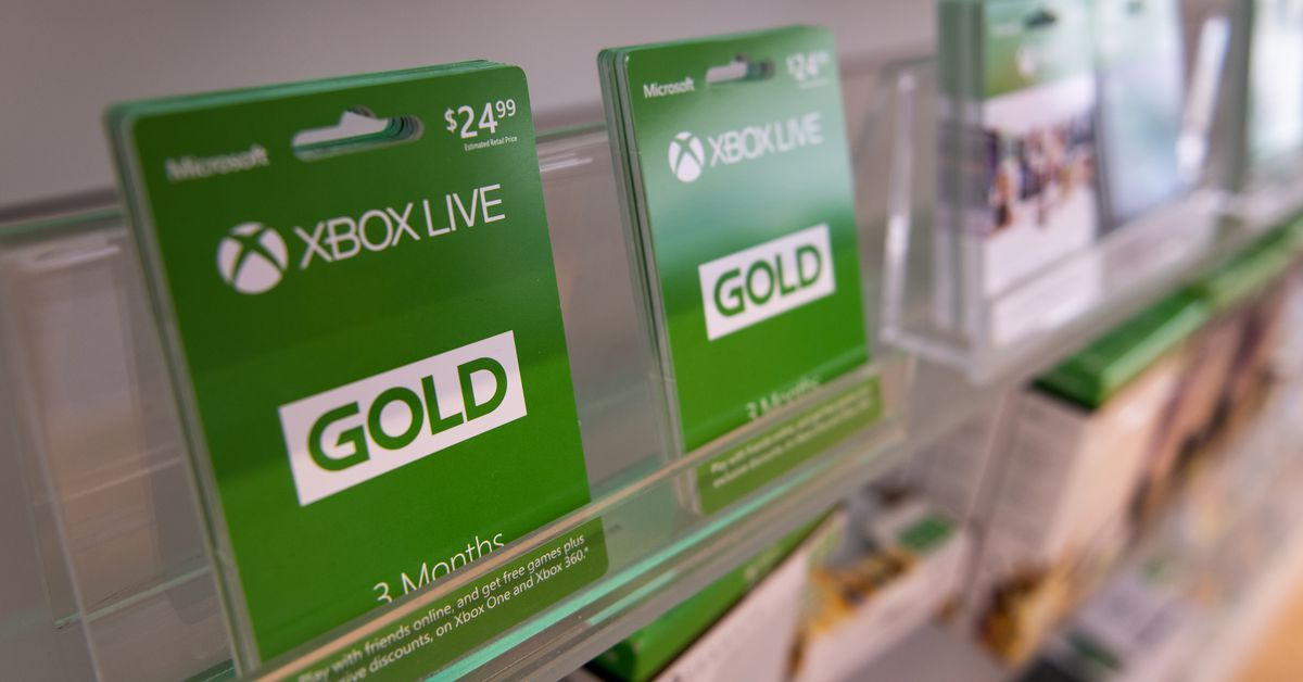 The price of Microsoft Xbox Live Gold has gone up