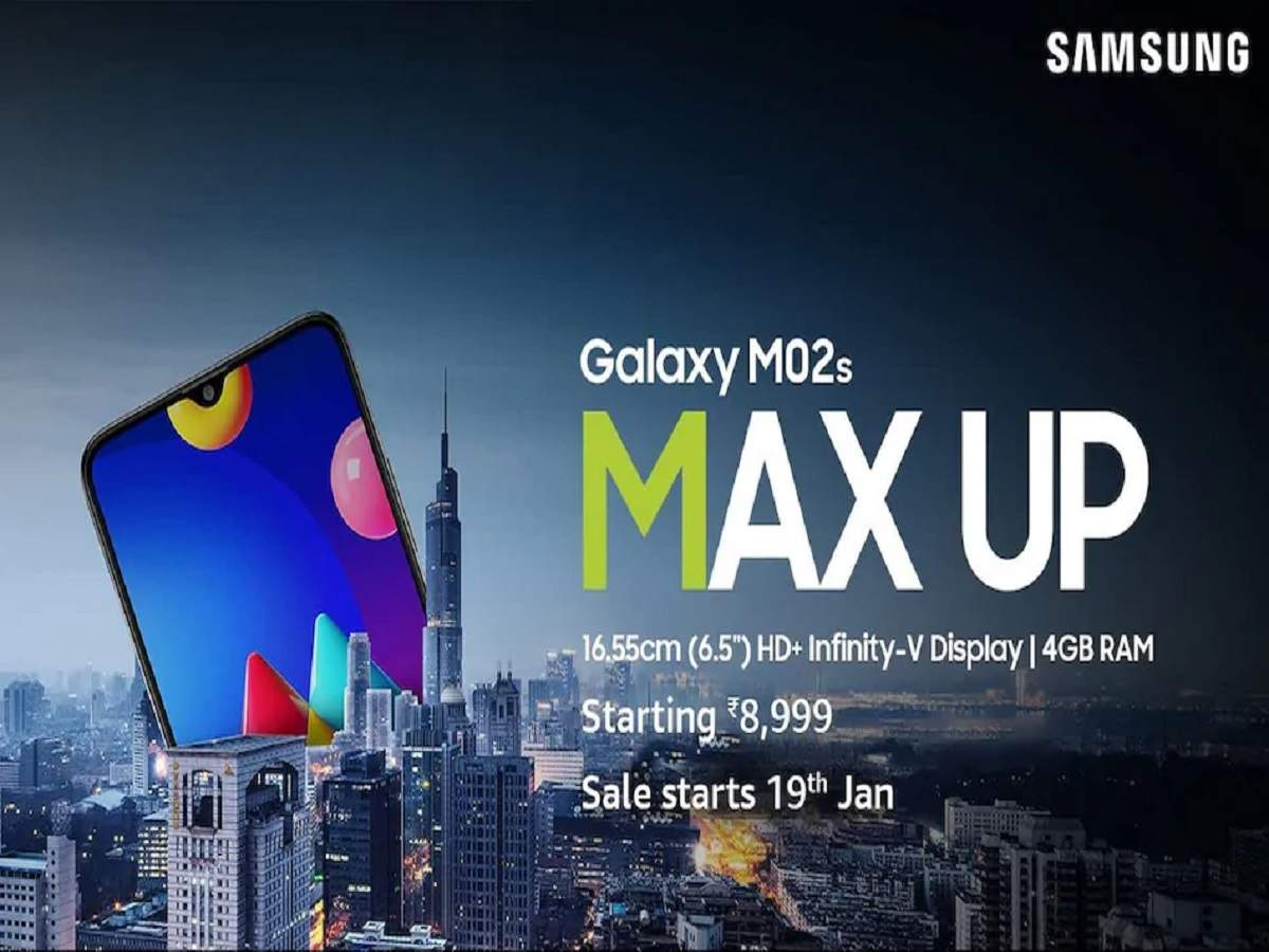 samsung galaxy m02s first sale amazon: samsung galaxy m02s first sale on amazon this day - samsung galaxy m02s first sale starts in india on 19 january on amazon, see price specs