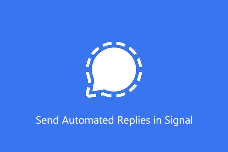 How to Send Automated Replies in Signal App?