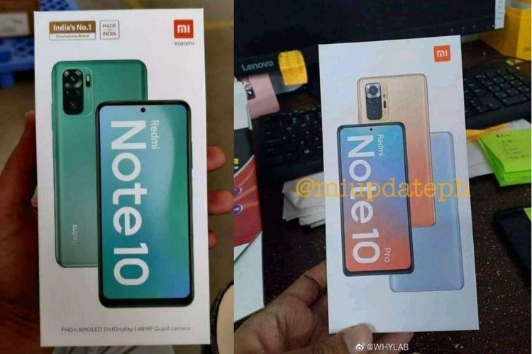 Redmi Note 10, Note 10 Pro Retail Box Surfaces Online