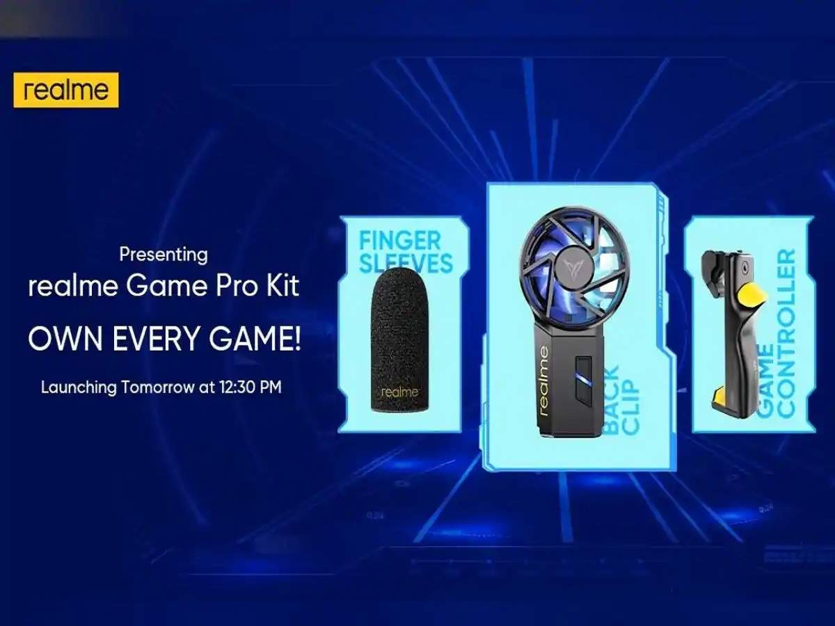 realme gaming accessories launched in india: realme launched many gaming accessories for gaming lovers, see price and feature - realme launched mobile game controller cooling back and finger sleeves in india, see price features
