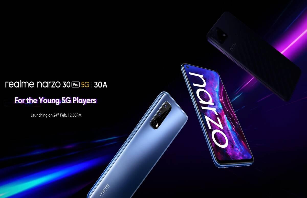 realme announced realme narzo 30 pro 5g and narzo 30a launch date in india