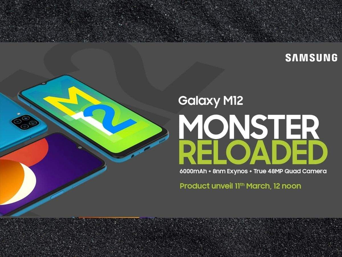 samsung galaxy m12 launch date in india: #MonsterReloaded challenge: Will Samsung be able to beat the 12 powerful batteries present in the Galaxy M12?  - samsung galaxy m12 challenge 12 celebs to outrun its powerful 6000 mah battery fea ture