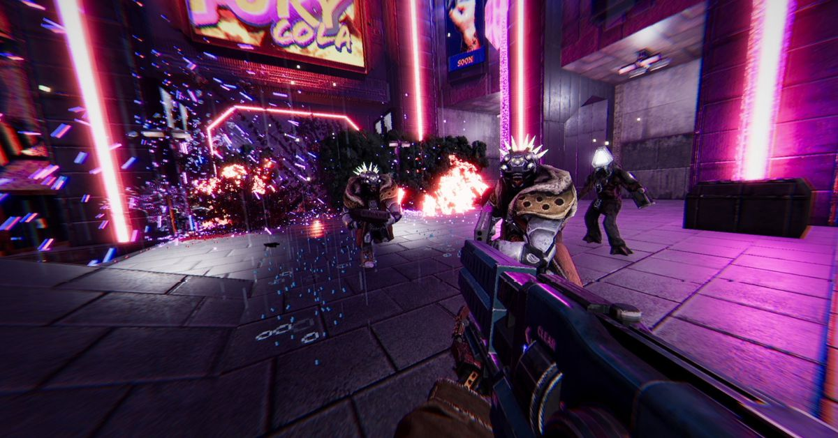 Cyberpunk FPS Turbo Overkill gives you a chainsaw leg for killing