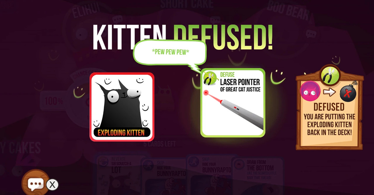 Exploding Kittens, the zany card game, comes to the Switch