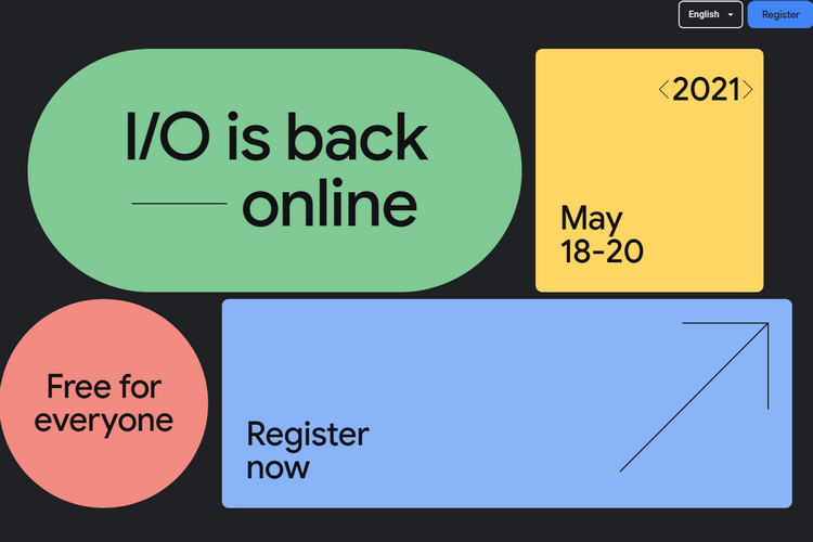Google I/O 2021 Scheduled for May 18 to 20