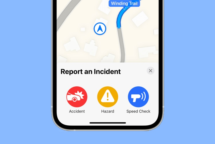 How to Report Traffic Accidents, Speed Checks in Apple Maps