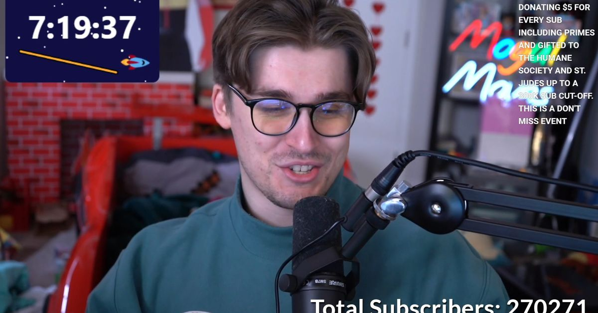 Ludwig Ahgren breaks world record for Twitch subscribers