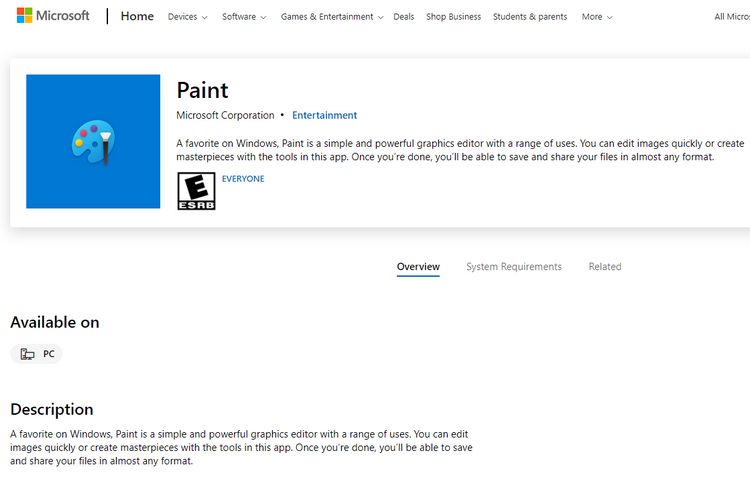 Microsoft Moves MS Paint and Snipping Tool to Microsoft Store
