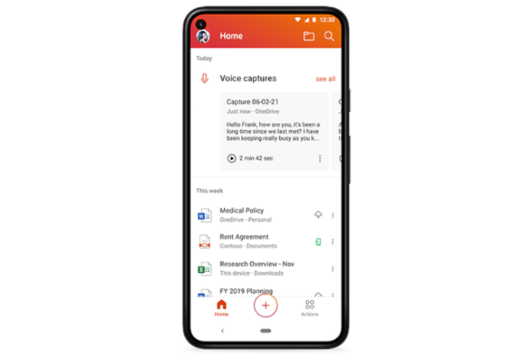 How to Record and Transcribe Voice Notes in Microsoft Office Mobile
