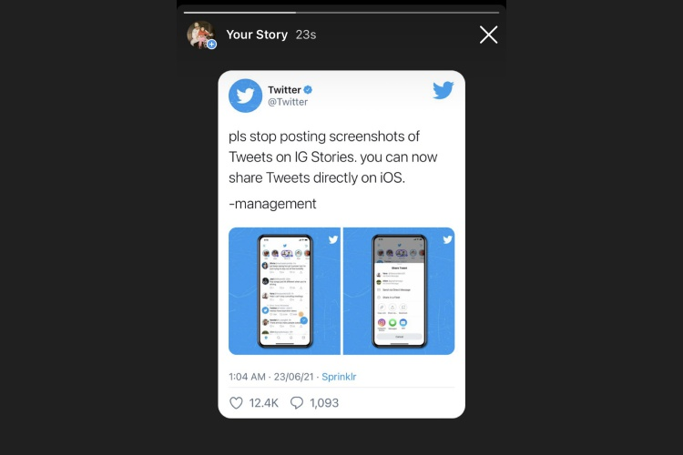 How to Share a Tweet on Instagram Story in 2021 (Guide)