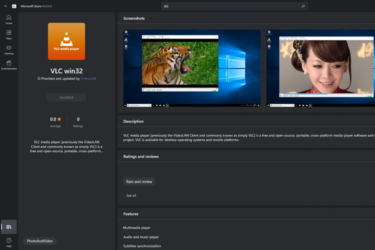 Classic VLC Win32 App Is Now Available on the Microsoft Store