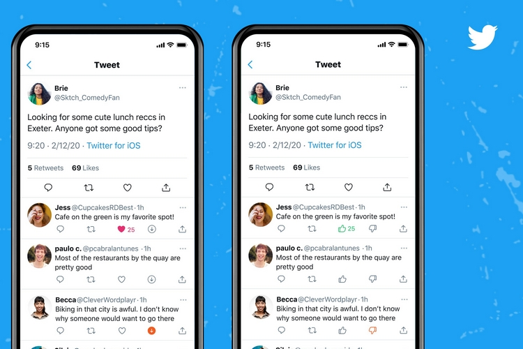 Twitter Starts Testing Upvote and Downvote Buttons on Tweets