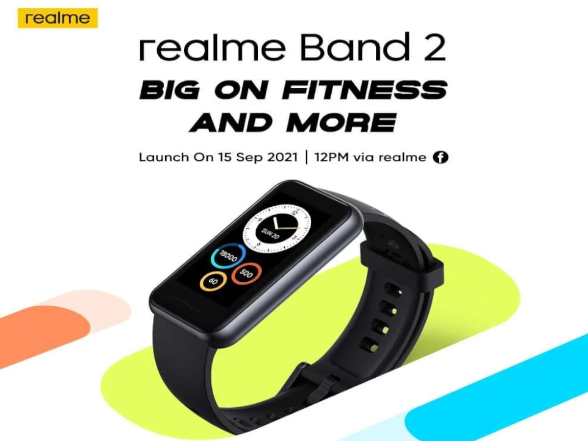 Realme Band 2 Launched Date 15 September: Wait is over!  Realme Band 2 is launching tomorrow, equipped with a big display and many new features;  View Details - wait is over realme band 2 to be launched at September 15 equipped with a big display and many new features check details