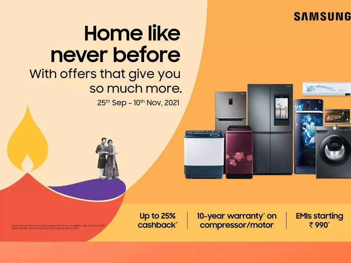Samsung Big TV Festival starts: Bumper discount on TV, Fridge, AC and Washing Machine, free soundbar above 1 lakh - samsung big tv festival and home like never before from 25 september starts discount on tv ac refrigerator washing machine microwaves